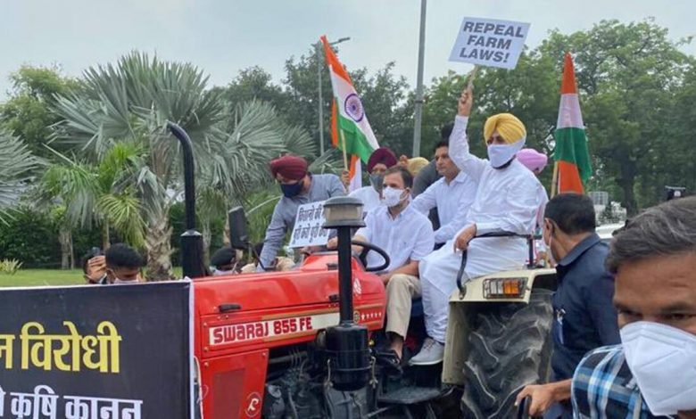Rahul Gandhi's Tractor Rally in Parliament