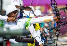 India's Deepika Kumari in action during the mixed event in Tokyo Olympics 2020