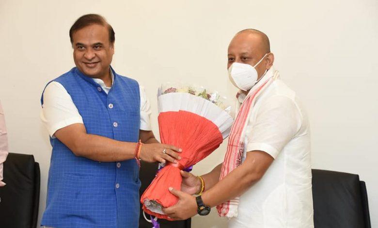 Ex Congress MLA Sushanta Borgohain joins BJP