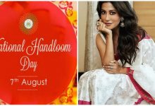 Bollywood Actress Chitrangada Singh wears Assamese Traditional Mekhla Chadar on the occasion of National Handloom day