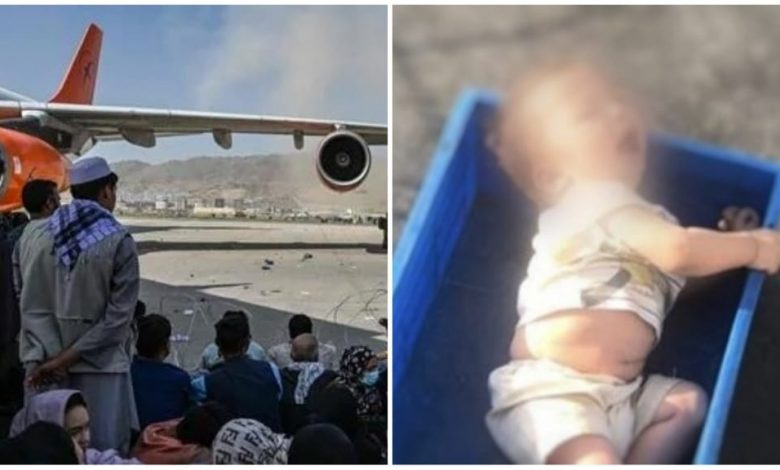 Infant found crying in abandoned condition at Kabul Airport